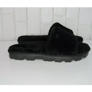 UGG Cozette platform slide sandals black Slippers